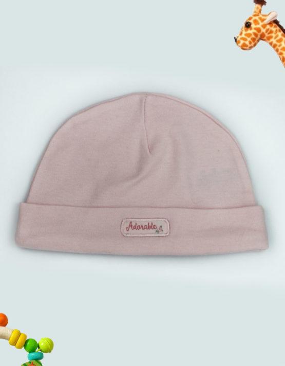 Adorable Pink Baby Cap