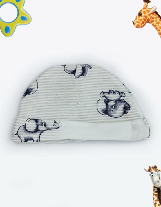 baby elephant grey baby cap