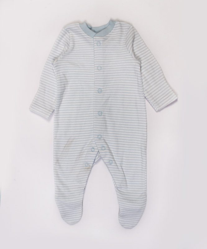 blue and white strips jumpsuit