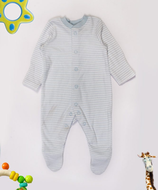 blue and white strips jumpsuit featured