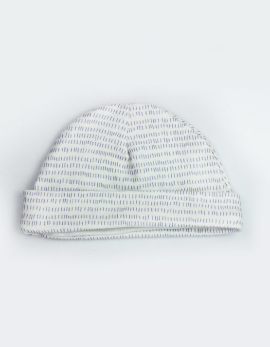 Blue Line White Baby Cap