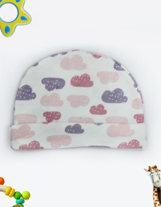 colorful clouds baby cap