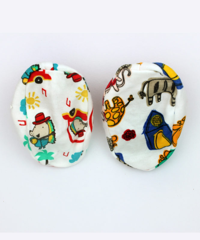 Colorful Printed Baby Booties