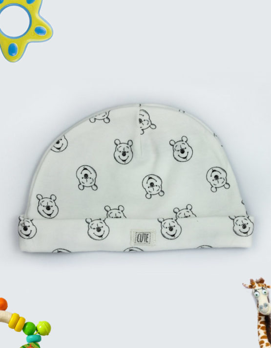 cute teddy white baby cap