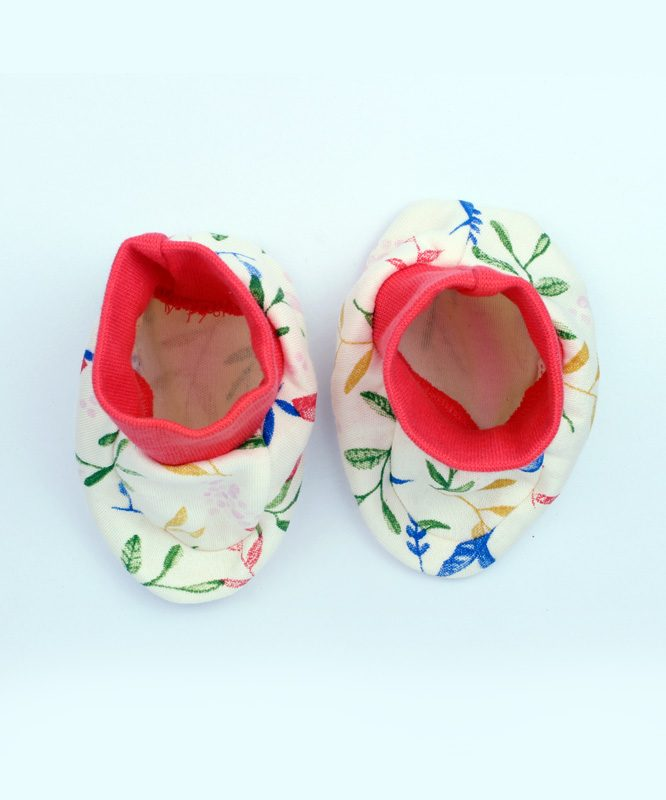 Floral Baby Booties