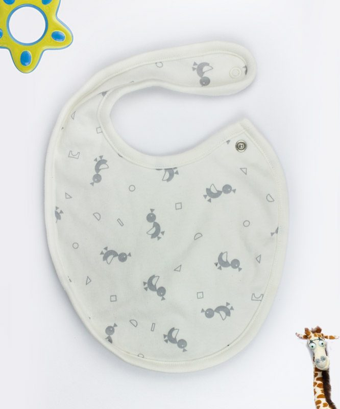 Little Ducky White Baby Bib