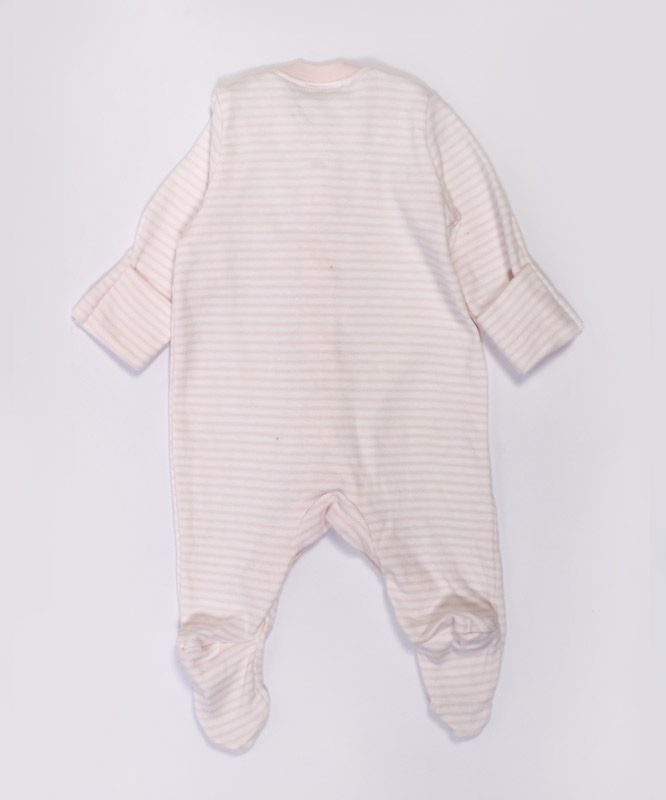 Pink And White Strips Baby Jumpsuit