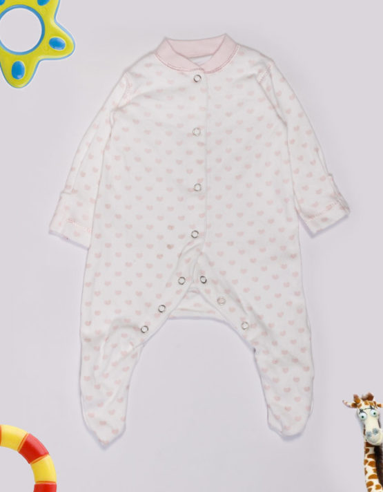 Pink little hearts on white Jumpsuite
