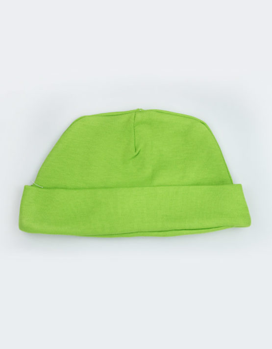 plain green baby cap