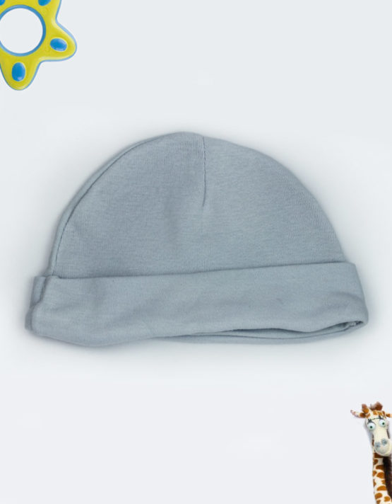 Plain Grey Baby Cap
