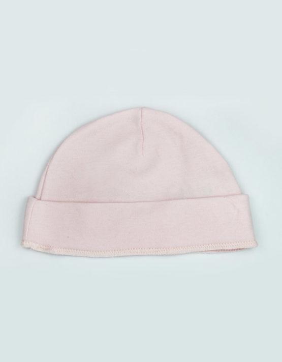 plain pink baby cap