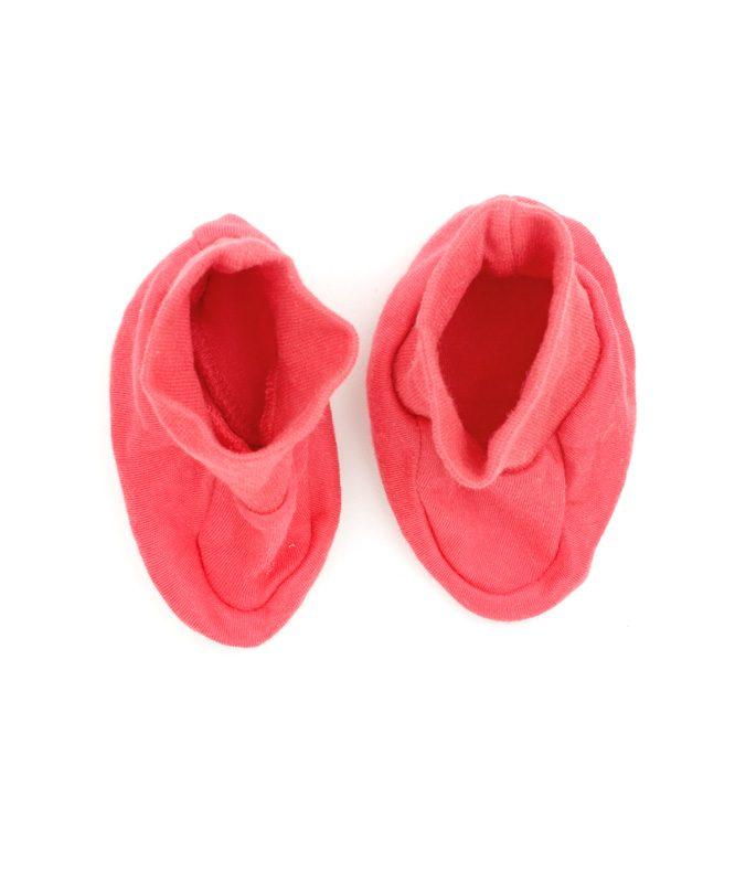 Plain Pink Baby Booties