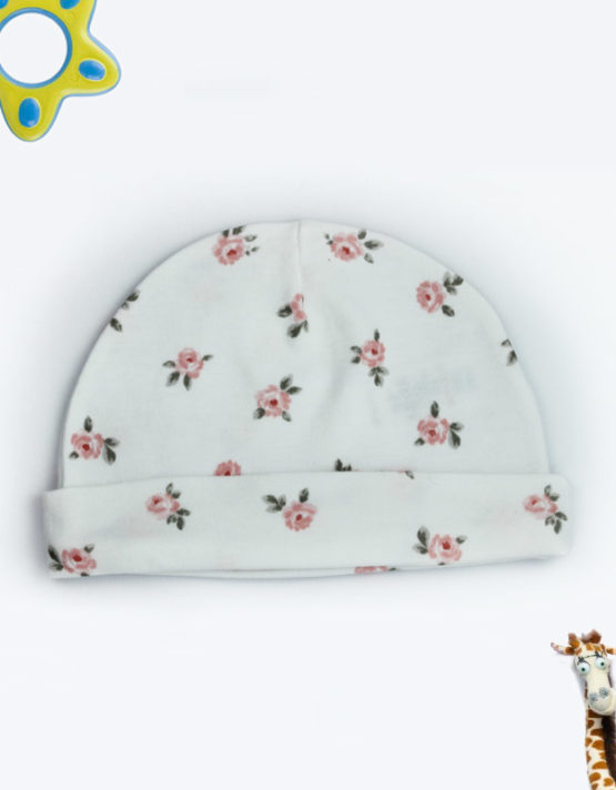 Rose Design Baby Cap