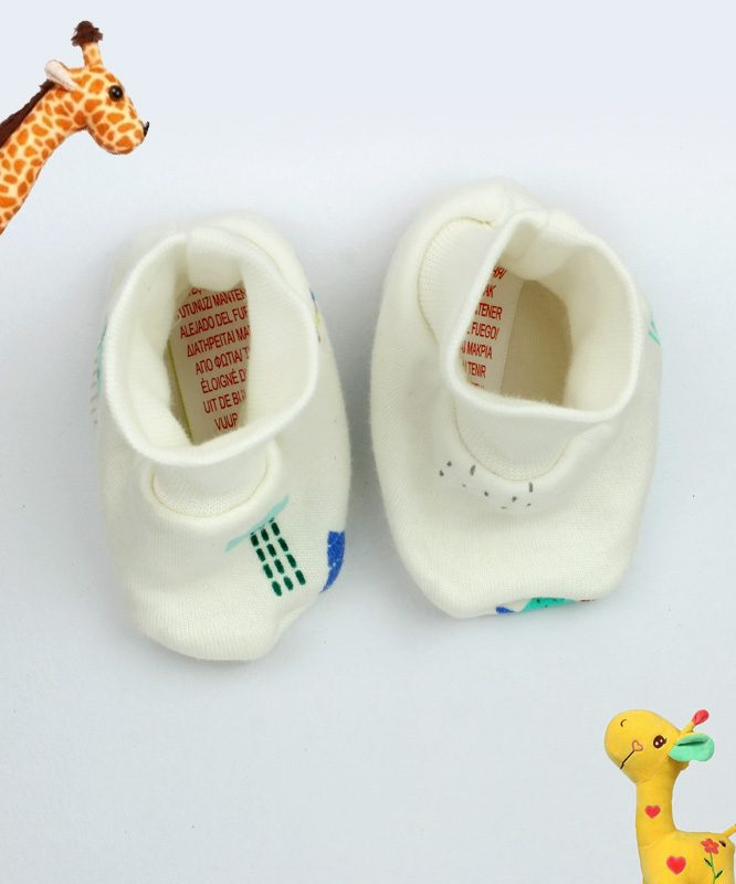 Water themed White Baby Booties