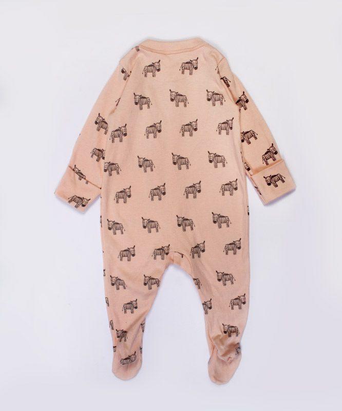 zebra printed pink jumpsuit