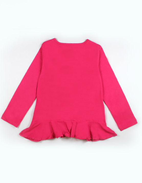 Pink Kids Top with Blue Heart