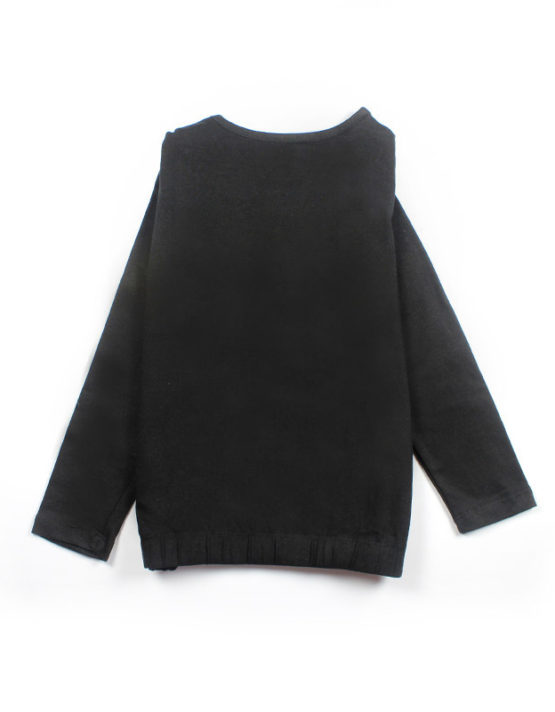 black glam kids top with floral embroidery big