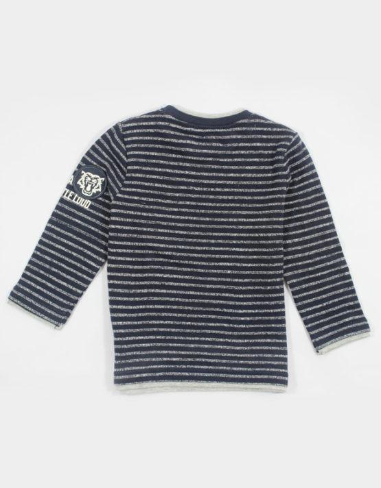blue and white strips kids tshirt