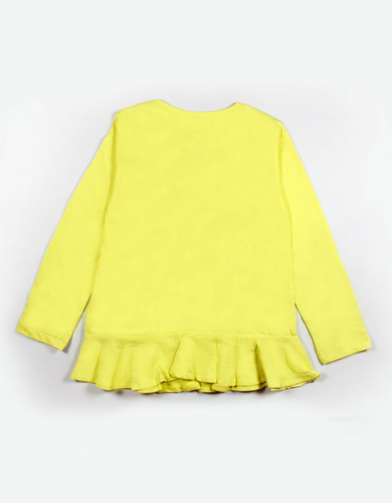 bright yellow kids top with love