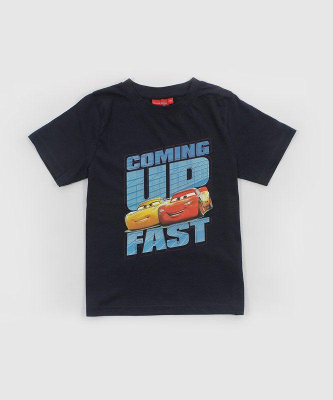 cars coming up fast blue tshirt kids tshirt