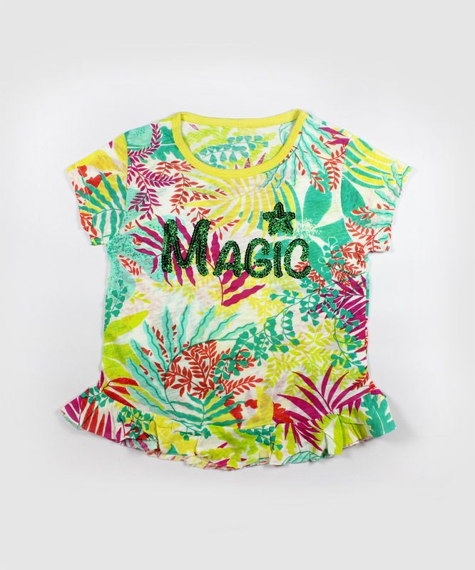 colorful floral magic kids top