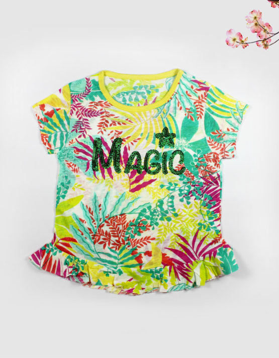 colorful floral magic kids top