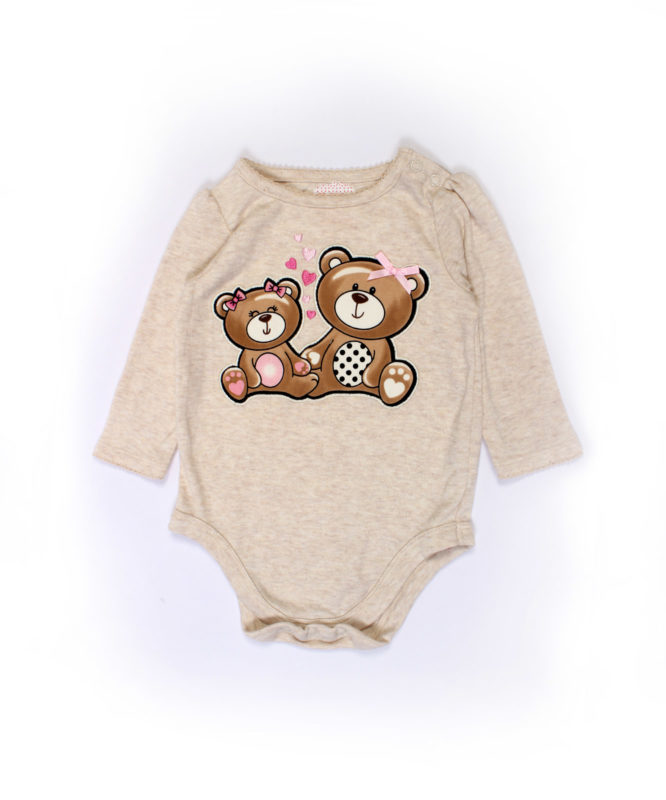 cute teddies on brown baby onesies