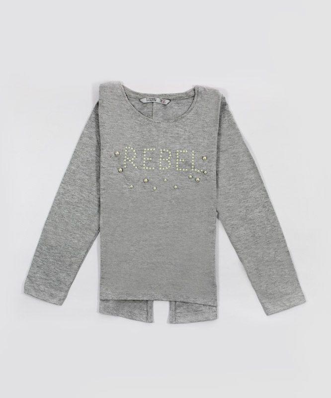 grey rebel kids top with pearls big