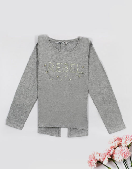 grey rebel kids top with pearls big