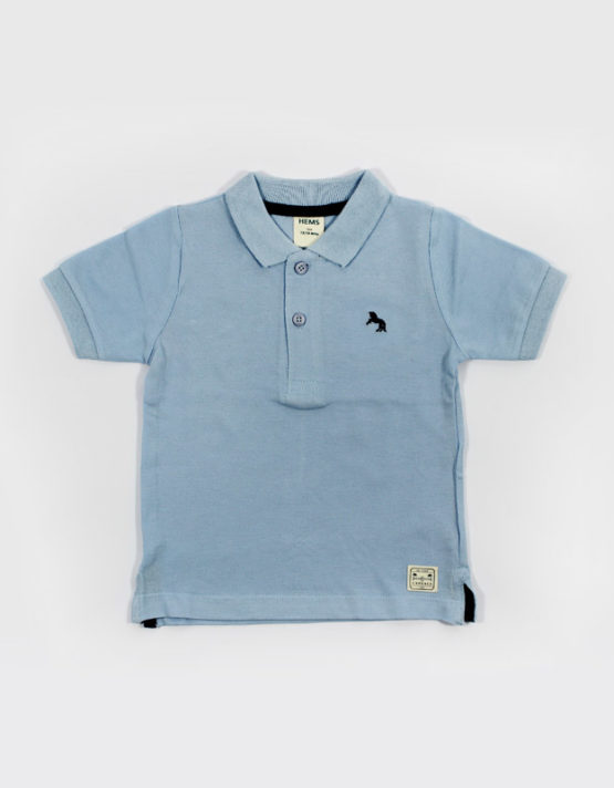 hems blue polo kids t shirt
