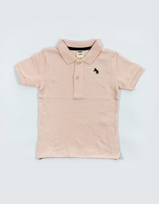 hems pink polo kids t shirt