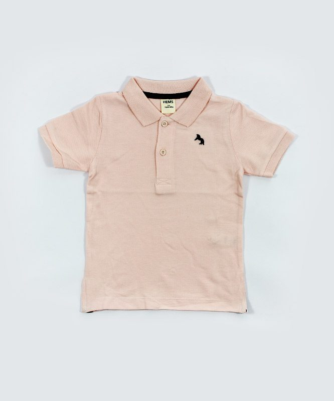 hems pink polo kids t shirt