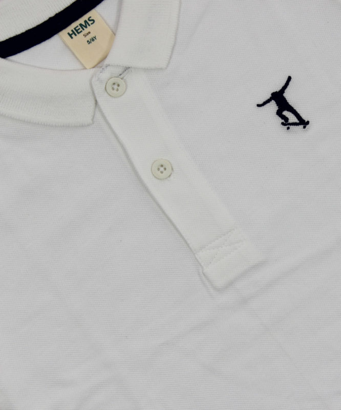 hems white polo kids tshirt