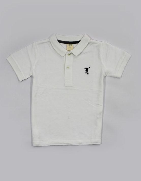 white polo kids t shirt