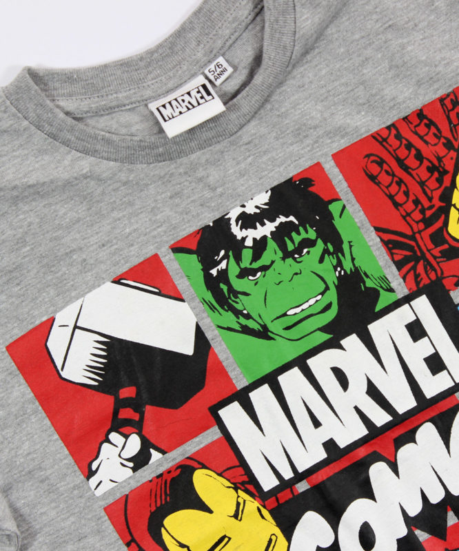 marvel comic super heroes kids tshirt