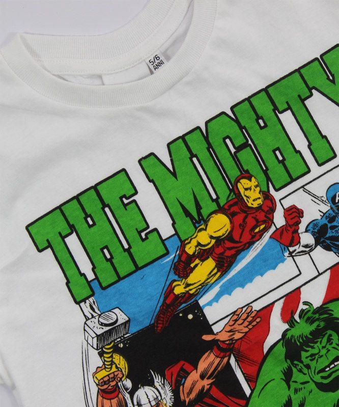 marvel mighty heros kids tshirt