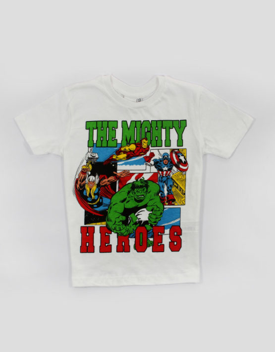 marvel mighty heros kids tshirt