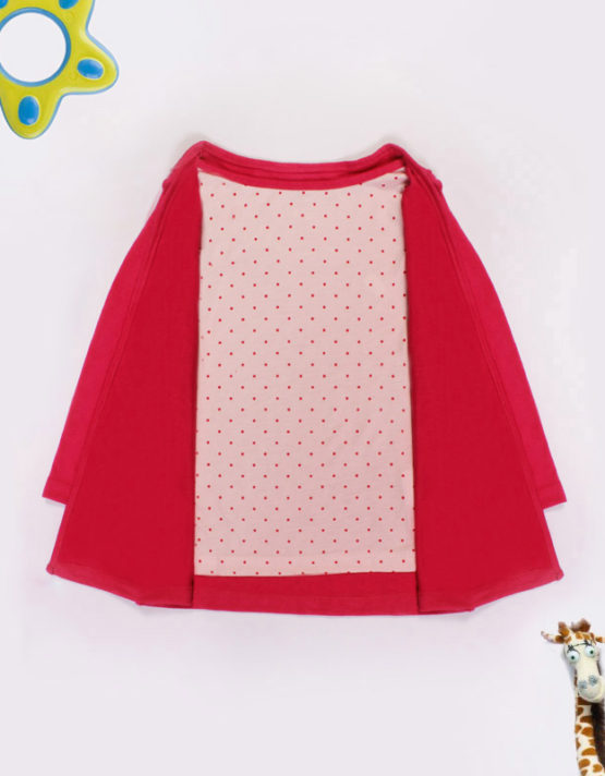 pink and white kids top