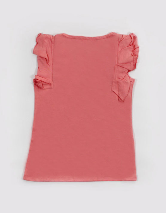 pink kids top with dazzling hearts