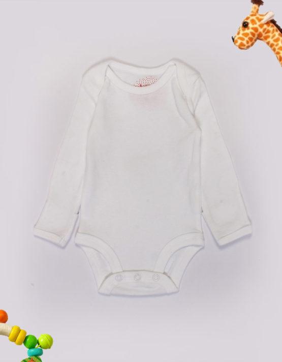 plain white baby onesies 1