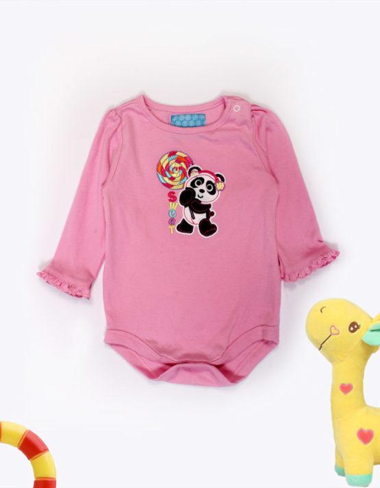 sweet panda pink baby onesies