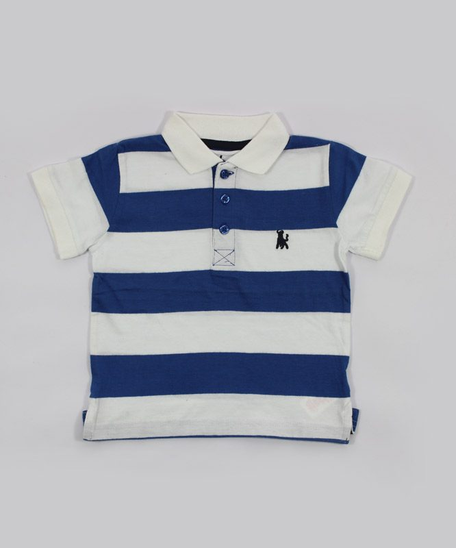 white and blue strips kids t shirt