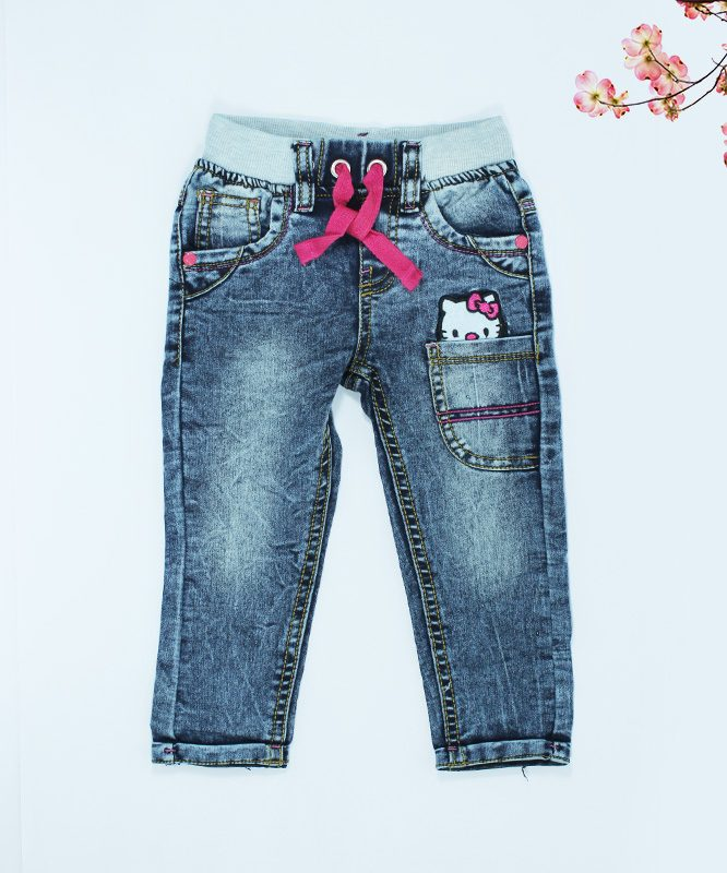 Hello kitty Kids Blue Jeans-featured