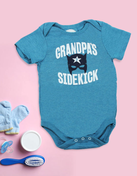 Grandpa's Sidekick Baby Rompers