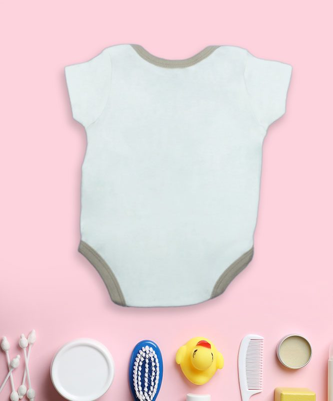 Hello I'm New Here white Baby Rompers
