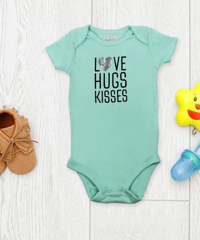 Love Hugs Kisses Baby Rompers