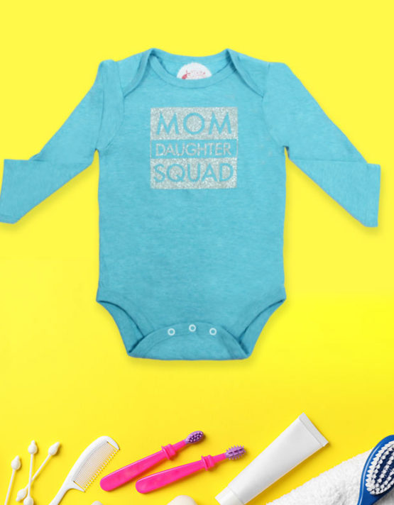 Mom Daughter Squad Baby Rompers