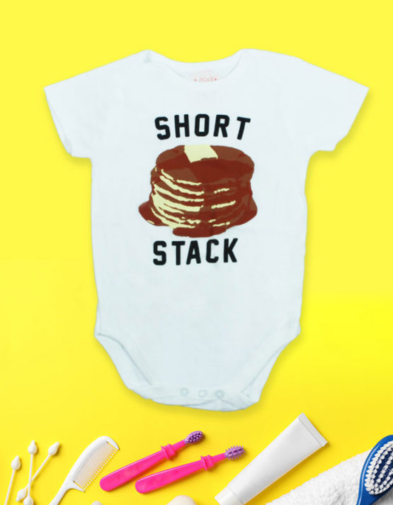 Short Stack White Baby Rompers