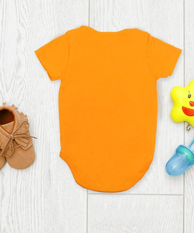 Sorry Mom Can't Talk Right Now Orange Baby Rompers