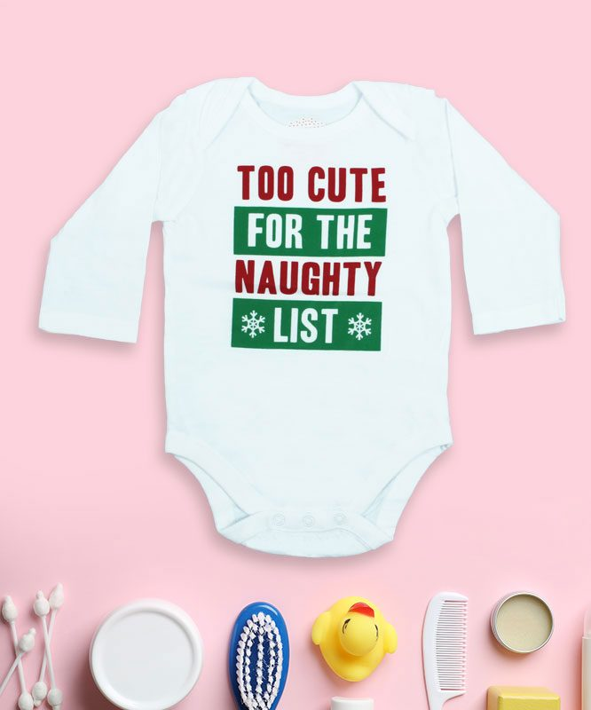 Too Cute For the Naughty List White Rompers